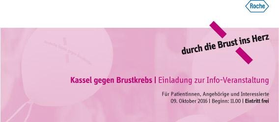 Kassel gegen Brustkrebs Einladung zur Info Veranstaltung